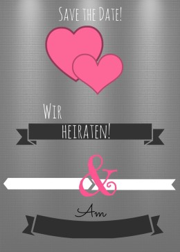 "Save the Date Karte Hochzeit ""hearts1"""