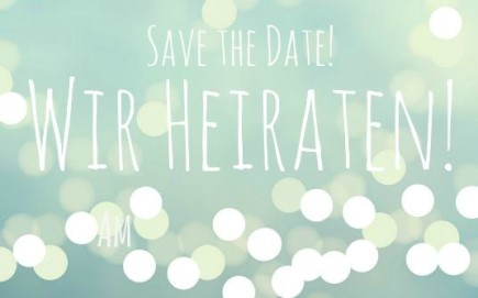 "Save the Date Karte Hochzeit ""lights"""