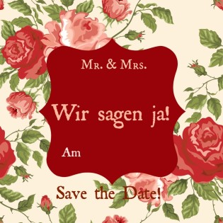 "Save the Date Karte Hochzeit ""roses"""