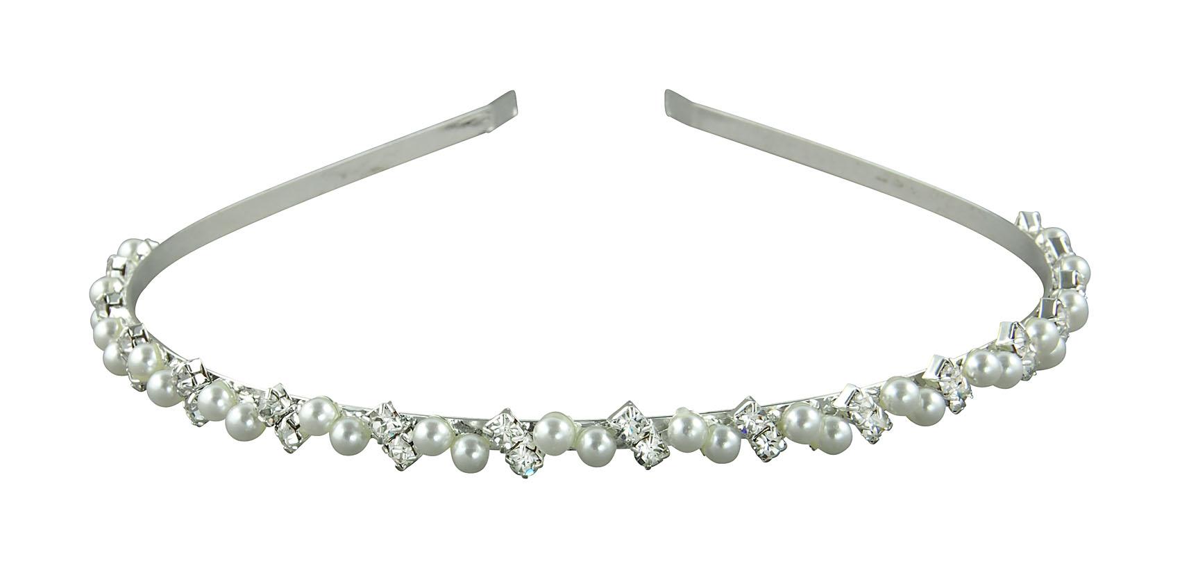 Brautschmuck haarreif perlen